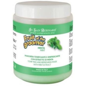 Iv San Bernard / Ив Сан Бернард Fruit of the Grommer Mint Восстанавливающая маска для любого типа шерсти с витамином В6 1 л