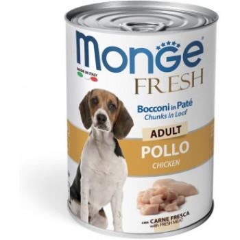 Monge / Монж Dog Fresh Chunks in Loaf консервы для собак мясной рулет курица 400г