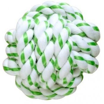 CanineClean / Канин Клин игрушка для собак Мячик из каната 8 см с ароматом мяты