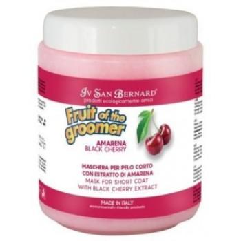 Iv San Bernard / Ив Сан Бернард Fruit of the Grommer Black Cherry Восстанавливающая маска для короткой шерсти с протеинами шелка 1 л