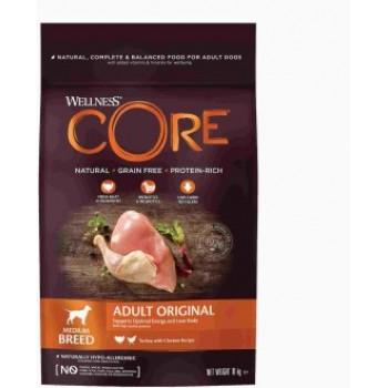 Wellness Core / Вилнес Кор корм из индейки с курицей для взрослых собак средних пород 10 кг