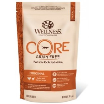Wellness Core / Вилнес Кор корм из индейки с курицей для взрослых кошек 300 гр