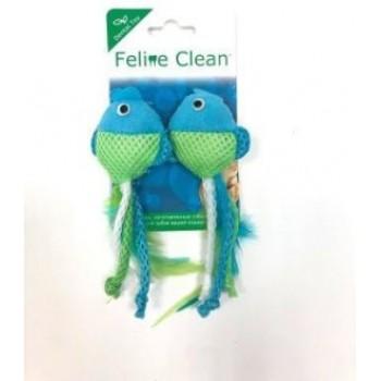 Feline Clean / Фелин Клин игрушка для кошек Dental Рыбки, ленты и перья (2 шт.)