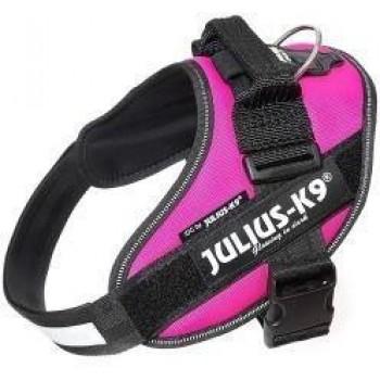 Julius-K9 / Юлиус-К9 шлейка для собак IDC®-Powerharness 0 (58-76см/ 14-25кг), темно-розовый