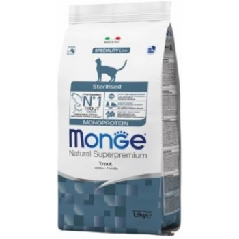 Monge / Монж Cat Monoprotein Sterilised Trout корм для стерилизованных кошек с форелью 1,5 кг