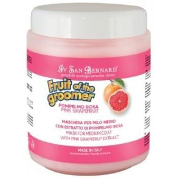 Iv San Bernard / Ив Сан Бернард Fruit of the Grommer Pink Grapefruit Восстанавливающая маска для шерсти средней длины с витаминами 1 л