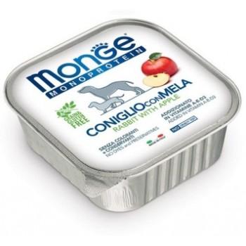 Monge / Монж Dog Monoprotein Fruits консервы для собак паштет из кролика с яблоком 150г