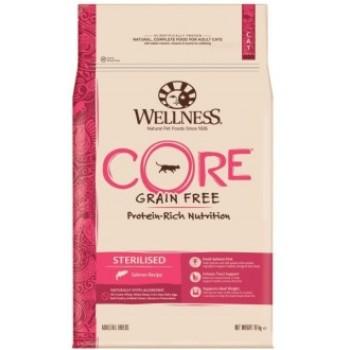 Wellness Core / Вилнес Кор корм из лосося для стерилизованных кошек и кастрированных котов 10 кг