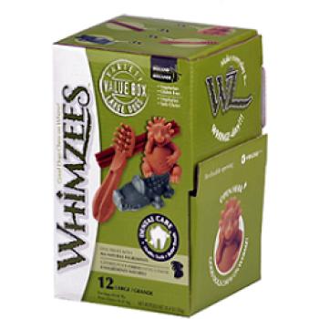 Whimzees / Вимзис дентальное лакомство МИКС (палочки/ щетки/ крокодильчики/ ежики) для собак L 12 шт в дисплее