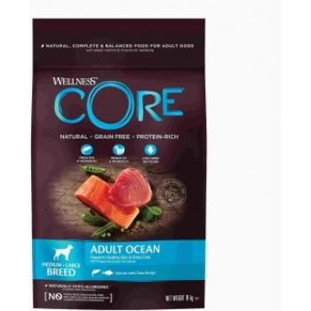 Wellness Core / Вилнес Кор корм из лосося с тунцом для взрослых собак средних и крупных пород 10 кг