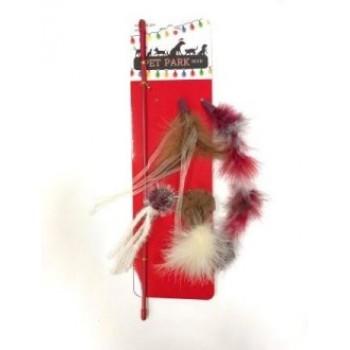 Petpark / Петпарк игрушка для кошек Christmas дразнилка, 5 сменных наконечников