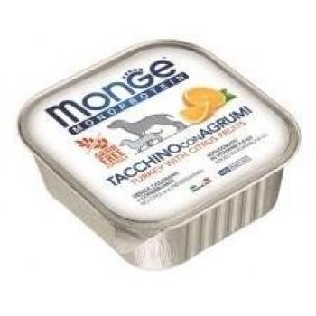 Monge / Монж Dog Monoprotein Fruits консервы для собак паштет из индейки с цитрусовыми 150г