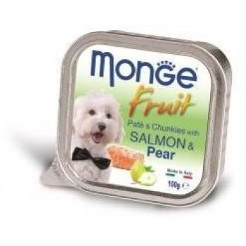 Monge / Монж Dog Fruit консервы для собак лосось с грушей 100г