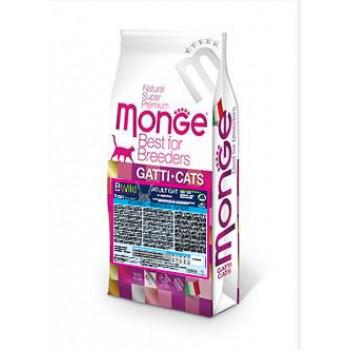 Monge / Монж BWild Cat Anchovies корм для взрослых кошек с анчоусами 10 кг