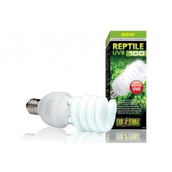 Exo Terra / Экзо Терра Лампа Reptile UVB100 former UVB5.0 Compact, 25 W /для тропического террариума/ PT2187