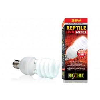 Exo Terra / Экзо Терра Лампа Reptile UVB200 Compact 25 W /для пустынных и высоких террариумов/ PT2341