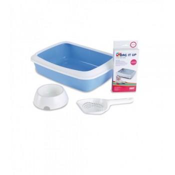 Savic / Савик Набор д/котят Starter Kit голубой (туалет IRIZ 42 см, пакеты,совок, миска) S2002