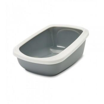 Savic / Савик Туалет д/кошек с насадкой ASEO Jumbo серый 67.5*48,5*28 см S2001
