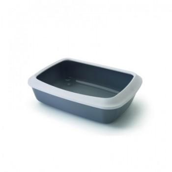 Savic / Савик Туалет д/кошек с насадкой IRIZ , серый 50см S0264