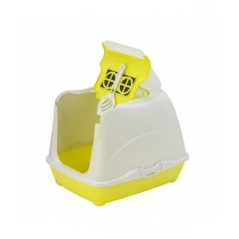 Moderna / Модерна Туалет-домик Flip с угольным фильтром, 50х39х37 см, лимонно-желтый