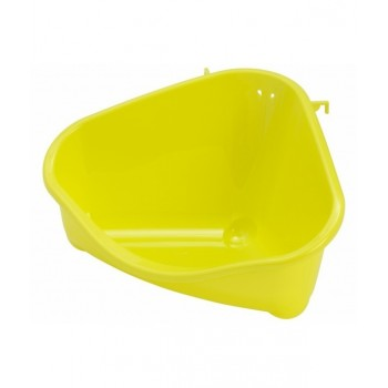 Moderna / Модерна Туалет для грызунов pet's corner угловой средний, 35х24х18, лимонно-желтый