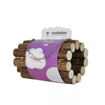 ZooBaloo Тоннель для грызунов на цепи малый из орешника L: 10х7х20 см