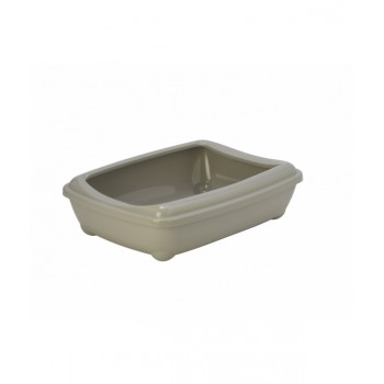 Moderna / Модерна Туалет-лоток большой с рамкой artist large + rim, 50х37х13,  теплый серый
