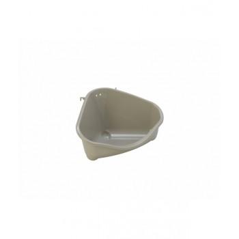 Moderna / Модерна Туалет для грызунов pet's corner угловой средний, 35х24х18, теплый серый