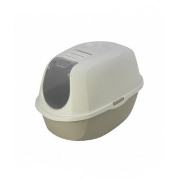 Moderna / Модерна Туалет-домик SmartCat с угольным фильтром, 54х40х41 см,  теплый серый