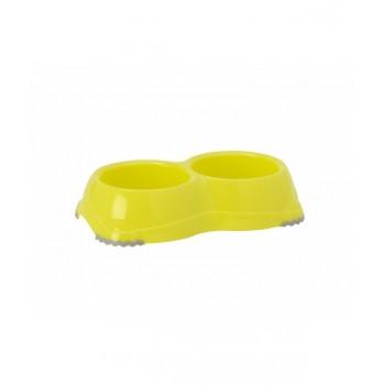 Moderna / Модерна Двойная миска нескользящая Smarty, 2*330 мл, лимонно-желтый