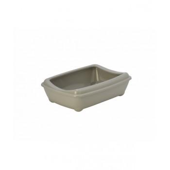 Moderna / Модерна Туалет-лоток средний с рамкой Artist Medium + rim, 42х30х12 см, теплый серый