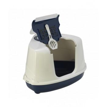 Moderna / Модерна Туалет-домик угловой Flip с угольным фильтром, 55х45х38 см, черничный