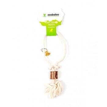 ZooBaloo Игрушка для птиц кольцо с боченками, х/б 23 см