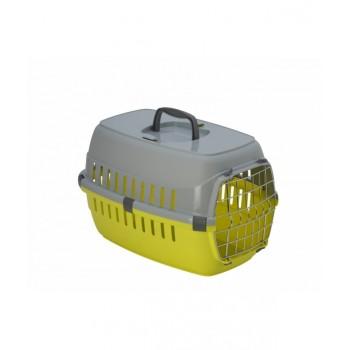 Moderna / Модерна Переноска Roadrunner с металлической дверцей, 48,5 x  32,3 x 30,1 см, лимонно-желтый