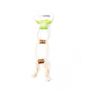 ZooBaloo Игрушка для птиц двойное кольцо с боченками, х/б 25 см