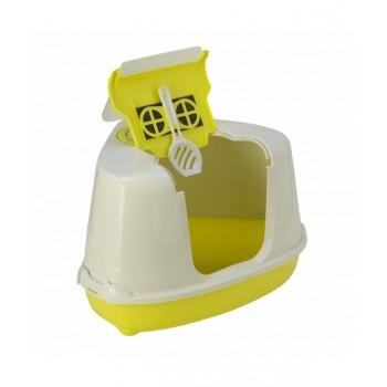 Moderna / Модерна Туалет-домик угловой Flip с угольным фильтром, 55х45х38 см, лимонно-желтый