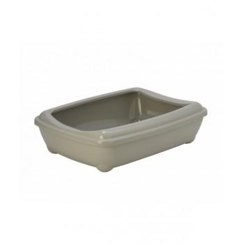 Moderna / Модерна Туалет-лоток большой с рамкой  artist large + rim, 57х43х15 jumbo теплый серый
