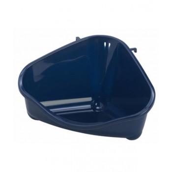 Moderna / Модерна Туалет для грызунов pet's corner угловой средний, 35х24х18, черничный