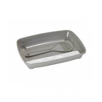 Moderna / Модерна Набор для котят: совок+пакеты+ туалет, 37х28х6 см (Starterkit), теплый серый