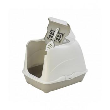 Moderna / Модерна Туалет-домик Flip с угольным фильтром, 50х39х37 см, теплый серый