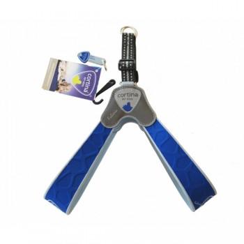Cortina / Кортина Супер прочная шлейка FALORIA неоновый синий (обхват груди 30-40 см/4-5 кг) (Harness FALORIA ELECTRIC BLUE SZ3)