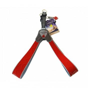 Cortina / Кортина Супер прочная шлейка FALORIA красный (обхват груди 40-50 см/6-8 кг) (Harness FALORIA RED SZ5)