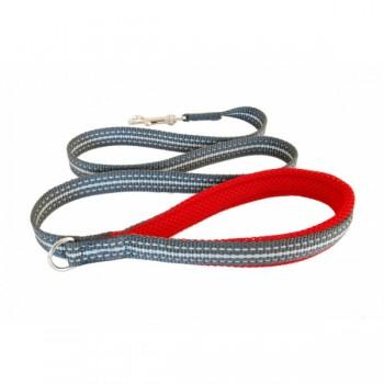 Cortina / Кортина Мягкий светоотражающий поводок красный 20mm x 1,2m (LEASH RED SZ 4/6)