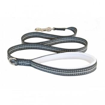Cortina / Кортина Мягкий светоотражающий поводок белый 15mm x 1,2m (LEASH WHITE SZ 1/3)