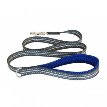 Cortina / Кортина Мягкий светоотражающий поводок неоновый синий 20mm x 1,2m (LEASH ELECTRIC BLUE SZ 4/6)