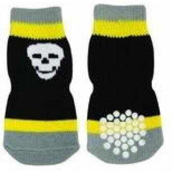 Dezzie / Деззи  Носочки черно-желтые, SS, 2*7 см