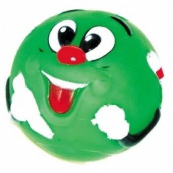 """Dezzie / Деззи Мяч """"Зеленый смайлик"""" для собак, 8,5 см, винил"""