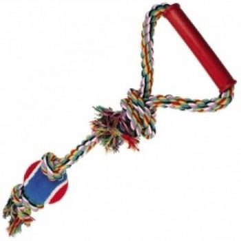 "Dezzie / Деззи Игрушка ""Веревка № 1"" для собак, 50 см, хлопок, пластик, резина"