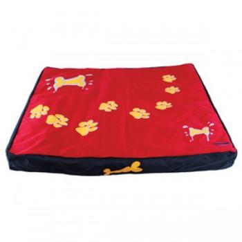 Dezzie / Деззи Лежак-коврик красный с лапами, 80*70*8 см
