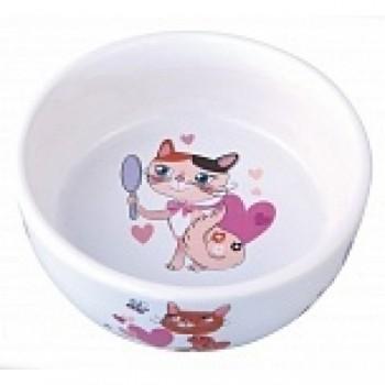 Dezzie / Деззи Миска керамическая для кошек, 300 мл, 12,5*4,5 см